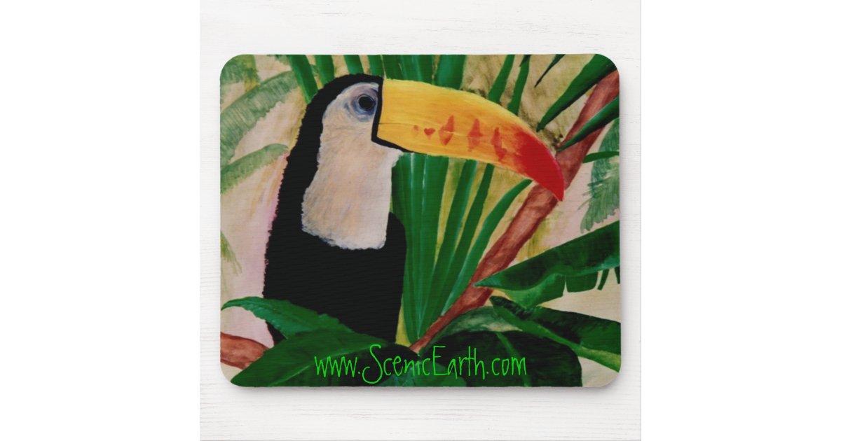 art tropical de tapis de souris d 39 oiseau de jungle zazzle. Black Bedroom Furniture Sets. Home Design Ideas