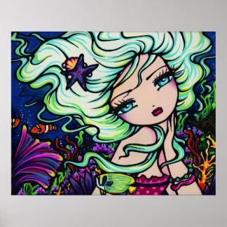 Art tropical d'imaginaire de sirène de Nelli