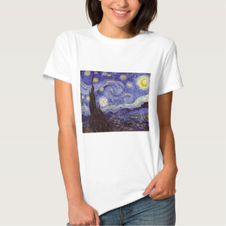 Art. van de Sterrige Nacht van Vincent van Gogh Tshirt