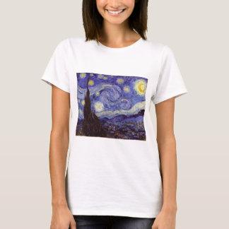 Art. van de Sterrige Nacht van Vincent van Gogh T Shirt