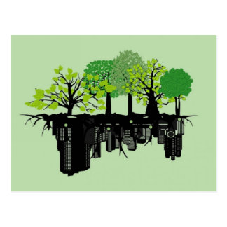 Art vert de ville cartes postales