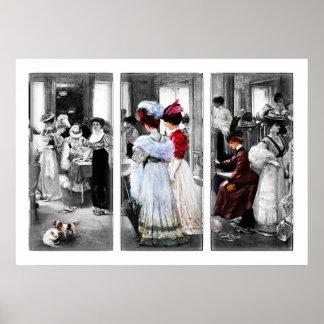 Art victorien vintage de haute couture