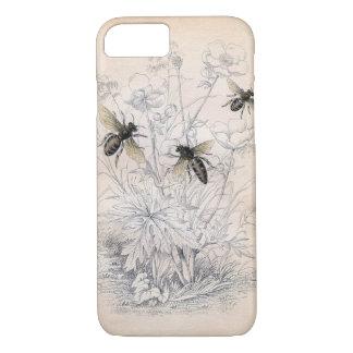 Art vintage d'abeille de miel coque iPhone 8/7