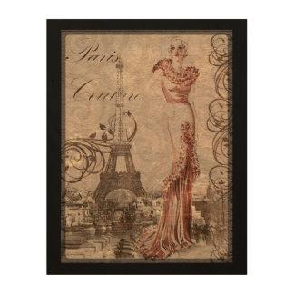 Art vintage de mur de mode de femme de couture de