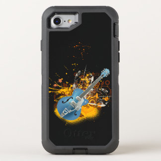 art vintage de remous de vecteur de guitare de coque otterbox defender pour iPhone 7