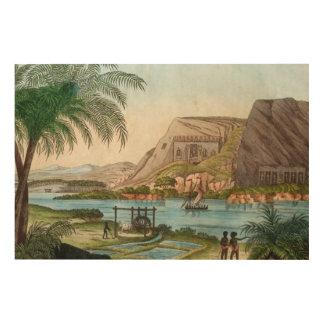 Art vintage égyptien sur le Nil