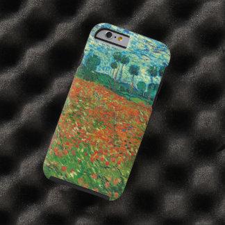 Art vintage floral de champ de pavot de Vincent Coque iPhone 6 Tough