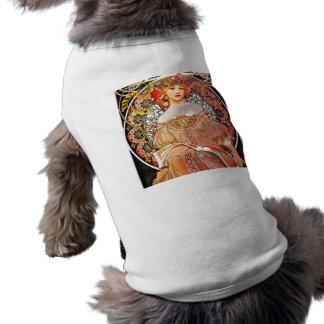 Art vintage floral Nouveau de rêverie d'Alphonse Tee-shirt Pour Chien