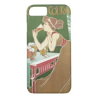 Art vintage Nouveau, bière pression potable de Coque iPhone 7