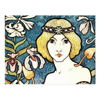 Art vintage Nouveau de cent de DES de salon de Cartes Postales