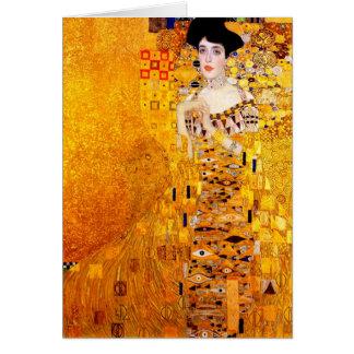 Art vintage Nouveau de Gustav Klimt Adele Carte