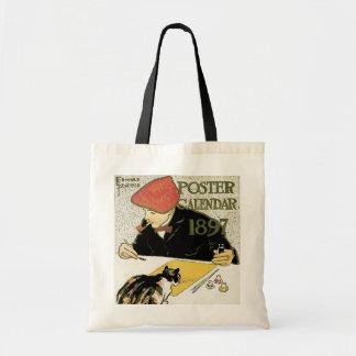 Art vintage Nouveau, peinture d'artiste avec le Tote Bag