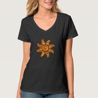 Art vivant, averti, éveillé d'emoji-mot du soleil t-shirt