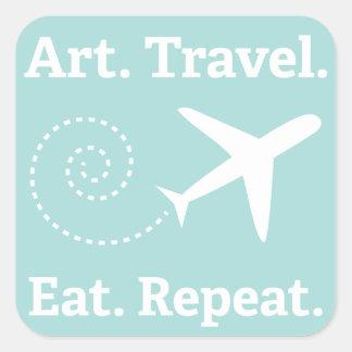 Art. Voyage. Mangez. Répétez. autocollant !