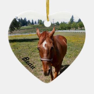 Articles de cadeau de l'école d'équitation de sens ornement cœur en céramique