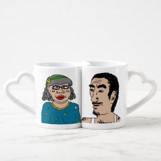 Artie et ensemble de tasse de perruches de Brenda