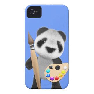 Artiste mignon du panda 3d (editable) étui iPhone 4