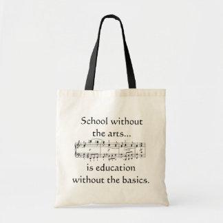 Arts dans le sac fourre-tout à éducation