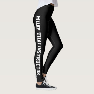 Arts martiaux thaïlandais d'instructeur de Muay Leggings
