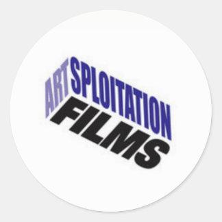 Artsploitation filme des autocollants