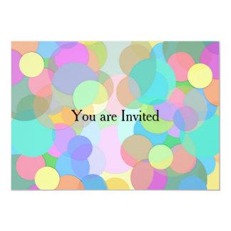 Artsy en Kleur Gevulde Cirkels/Bellen 12,7x17,8 Uitnodiging Kaart