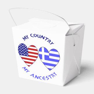 Ascendance grecque de pays de drapeau de coeur ballotins