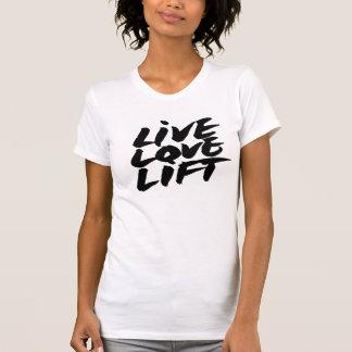 Ascenseur vivant d'amour de T-shirt de séance