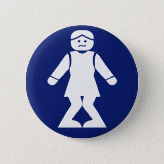 ⚠ asiatique thaïlandais de signe de toilette de ⚠ badge rond 5 cm