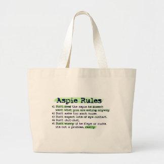 """""""Aspie ordonne"""" le sac fourre - tout à toile"""