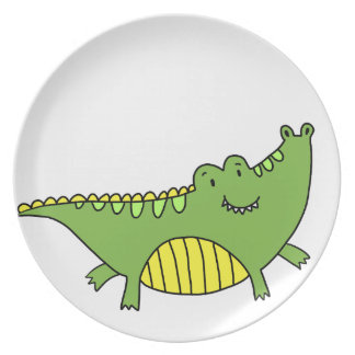 ASSIETTE ALLIGATOR MIGNON