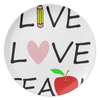 Assiette amour vivant teach2