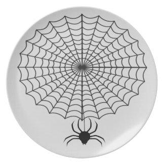 Assiette Araignée et toile d'araignée