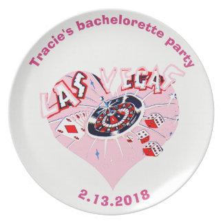 Assiette Bachelorette Las Vegas personnalisé