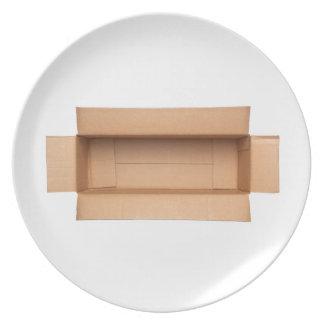 Assiette Boîte en carton retangular ouverte
