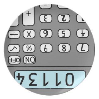 Assiette bonjour calculatrice