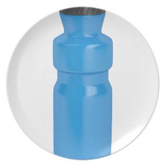 Assiette Bouteille en plastique bleue