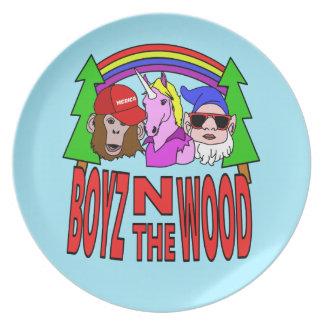 Assiette Boyz dans le bois