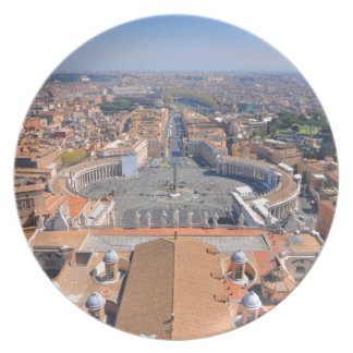 Assiette Carré de St Peter à Vatican, Rome, Italie