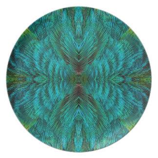 Assiette Conception de plume de kaléidoscope