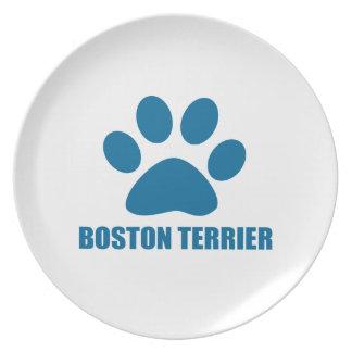 ASSIETTE CONCEPTIONS DE CHIEN DE BOSTON TERRIER
