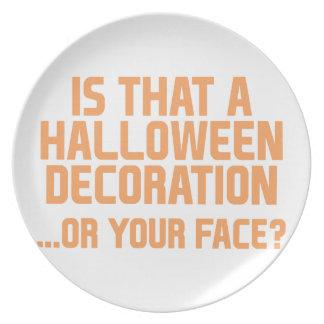 Assiette Décoration de Halloween