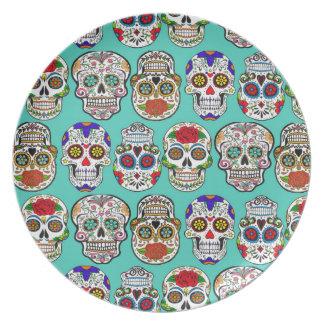 Assiette Dia de los Muertos (jour des morts)