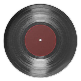 Assiette disque vinyle