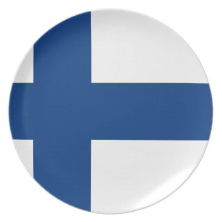 Assiette Drapeau de la Finlande