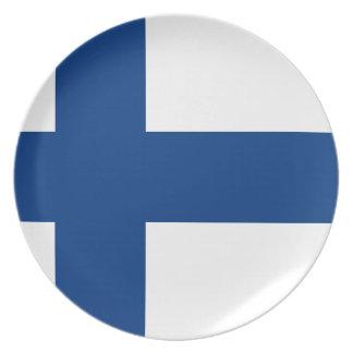 Assiette Drapeau de la Finlande - le Suomen Lippu - le