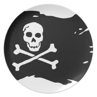 Assiette Drapeau de pirate
