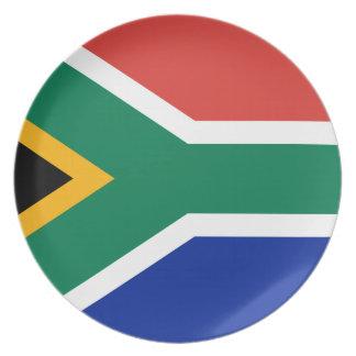 Assiette Drapeau national du monde de l'Afrique du Sud