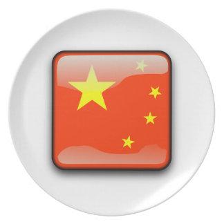 Assiette Drapeau poli chinois