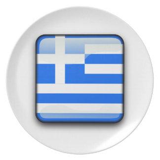 Assiette Drapeau poli grec