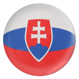 Assiette drapeau slovaque de la Slovaquie de plat de 10
